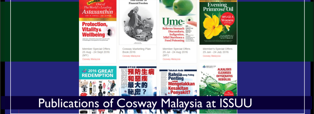Official Publications of Cosway Malaysia at ISSUU